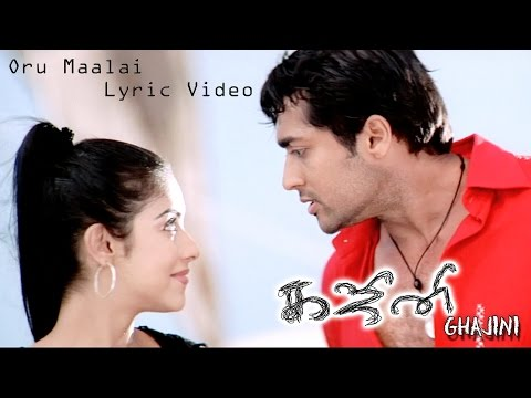 Ghajini - Oru Maalai Lyric Video | Asin, Suriya | Harris Jayaraj | Tamil Film Songs
