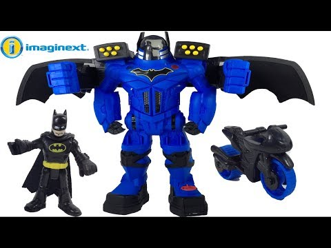 ROBOTUL URIAS INTERACTIV BATMAN BATBOT XTREME DC SUPER FRIENDS IMAGINEXT CU SUNETE SI LUMINI