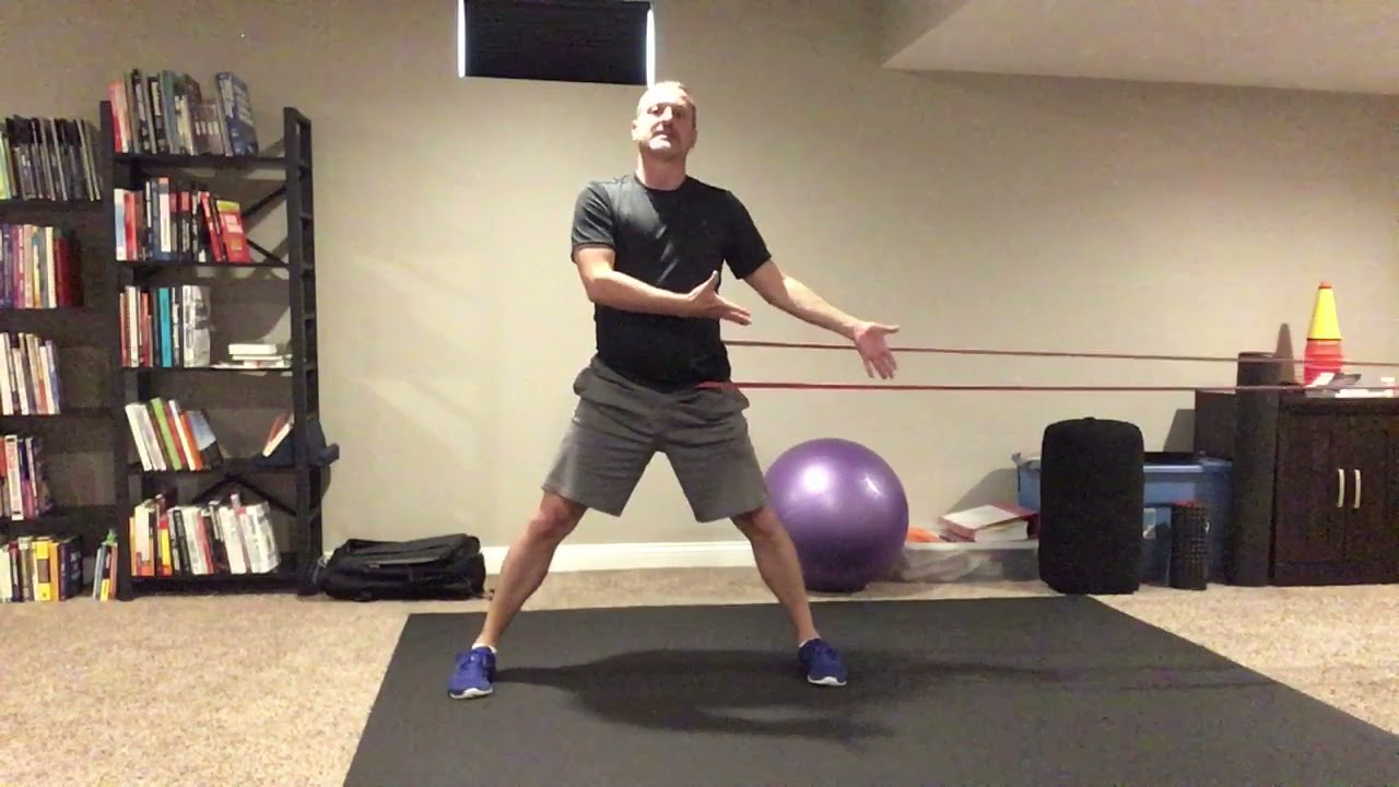 How To Use A Resistance Band To Clean Up The Lateral Shuffle