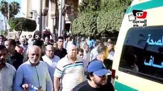 جنازة الشهيد مجند مصطفي عبد الغني أحد «شهداء هجوم أبو رفاعي»