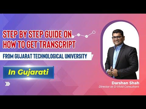 How to get Transcript from GTU in Gujarati?