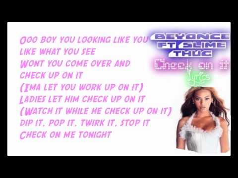 Check On It Beyonce Lyrics