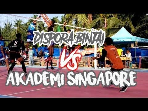DISPORA BINJAI VS AKADEMI SINGAPORE || VOLLY BALL HUT HAMMER VC || LAPANGAN COT ARA KUTABLANG_ACEH