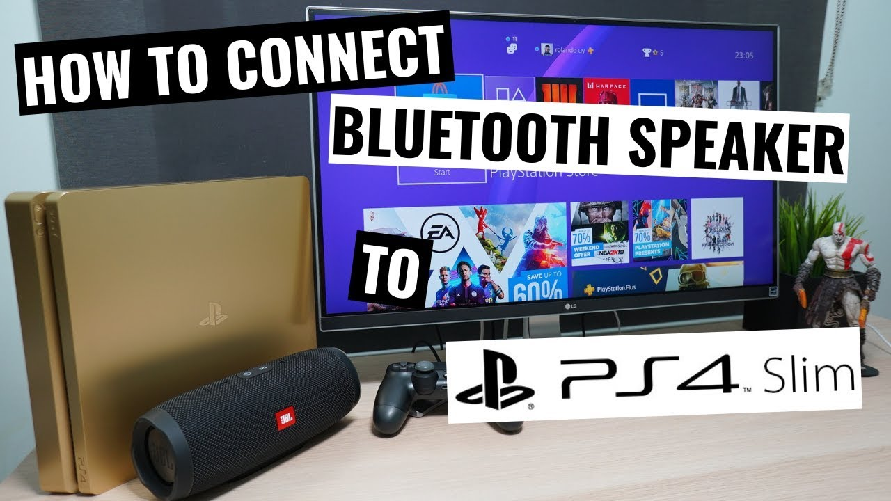 How to connect PS9 Slim to Bluetooth speaker. AMAZING SOLUTION!