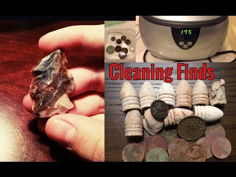 How To Clean Metal Detecting Finds - Coins, Relics, Artifacts + Quick Dig