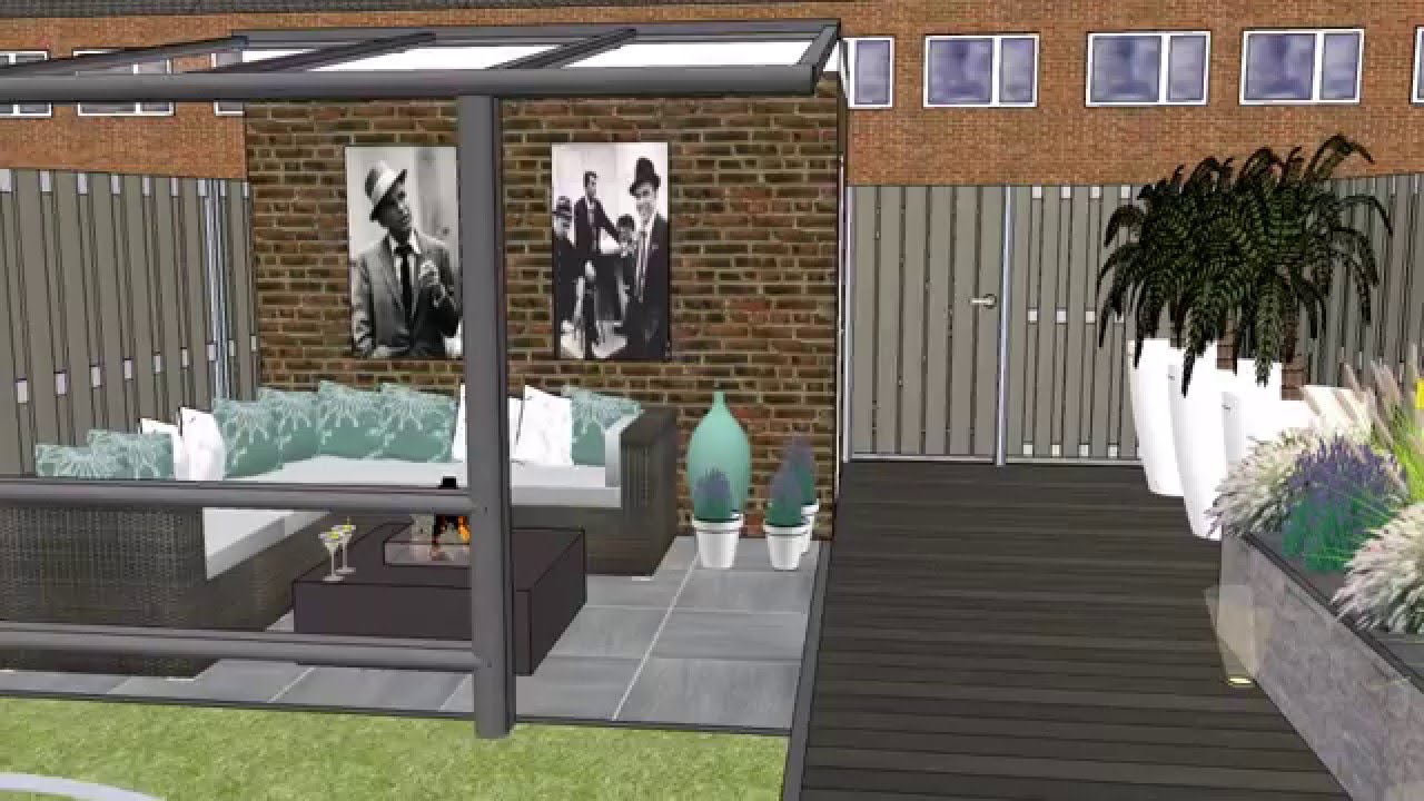 Tuinontwerp loungetuin modern youtube