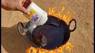 Fevicol vs Hot Oil experiment || Very Hot Oil vs Fevicol experiment || Experiment king
