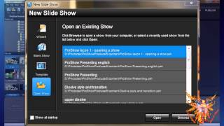 Proshow tutorial russian  1-1 - create or open a show