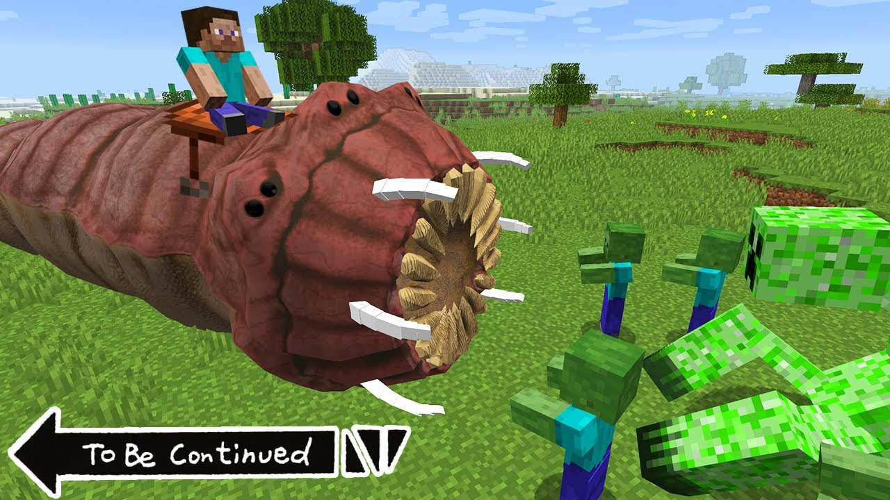 I TAMED Real WORM.EXE in MINECRAFT! Worm.exe vs 1000 Zombies