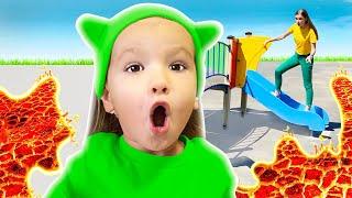 Пол это лава - Детская песня   Песни для детей с Тимой и Есей