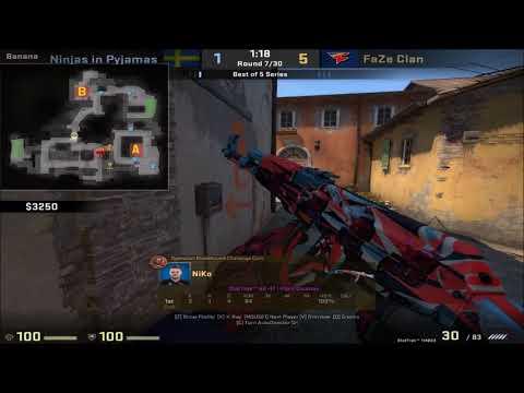 POV - NiKo (FaZe)(24-11) vs NiP / inferno / IEM Oakland 2017 Grand Final map 2