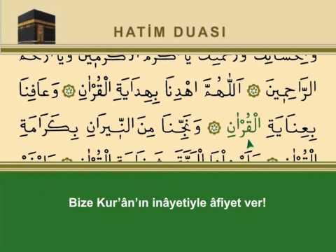 Kur'ân-ı Kerîm Hatim Duası