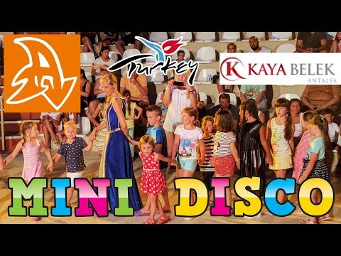 Kaya Belek 5* Детская дискотека в Турции. Мини диско. Disco For Children. Mini Disco.