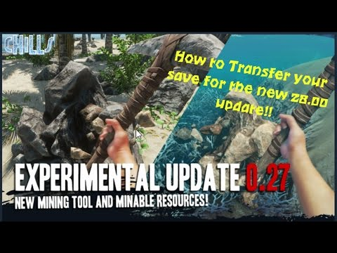 Stranded Deep BEST UPDATES!? 26 & 27 How to transfer save for the 28 update!? Mining, pick & ROOFS!