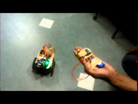 Accelerometer Based Gesture Controlled Robot using Arduino