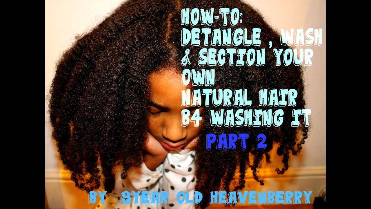 Natural Afro hair tips How-To Detangle & Section your Afro ...