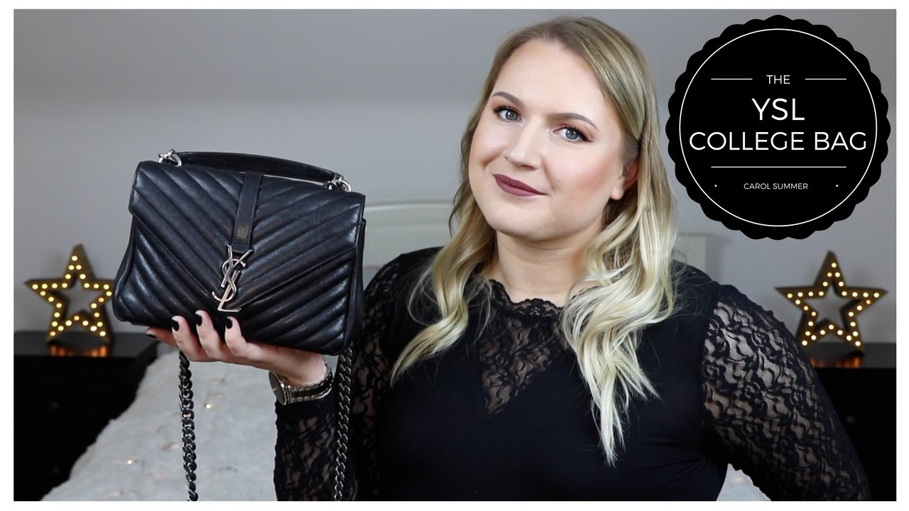 ae4062e050 YSL COLLEGE BAG REVIEW + WEAR   TEAR - YouTube