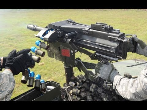 US Military Weapons 2016 - US Army Training With Grenade Launcher Mk-19 In  Action