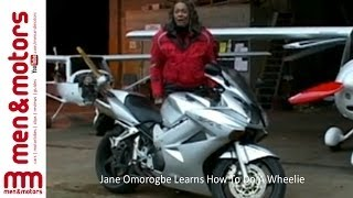 Jane Omorogbe Learns How To Do A Wheelie