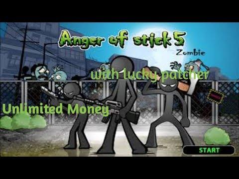 Cheat anger of stick 5 menggunakan lucky patcher - YouTube