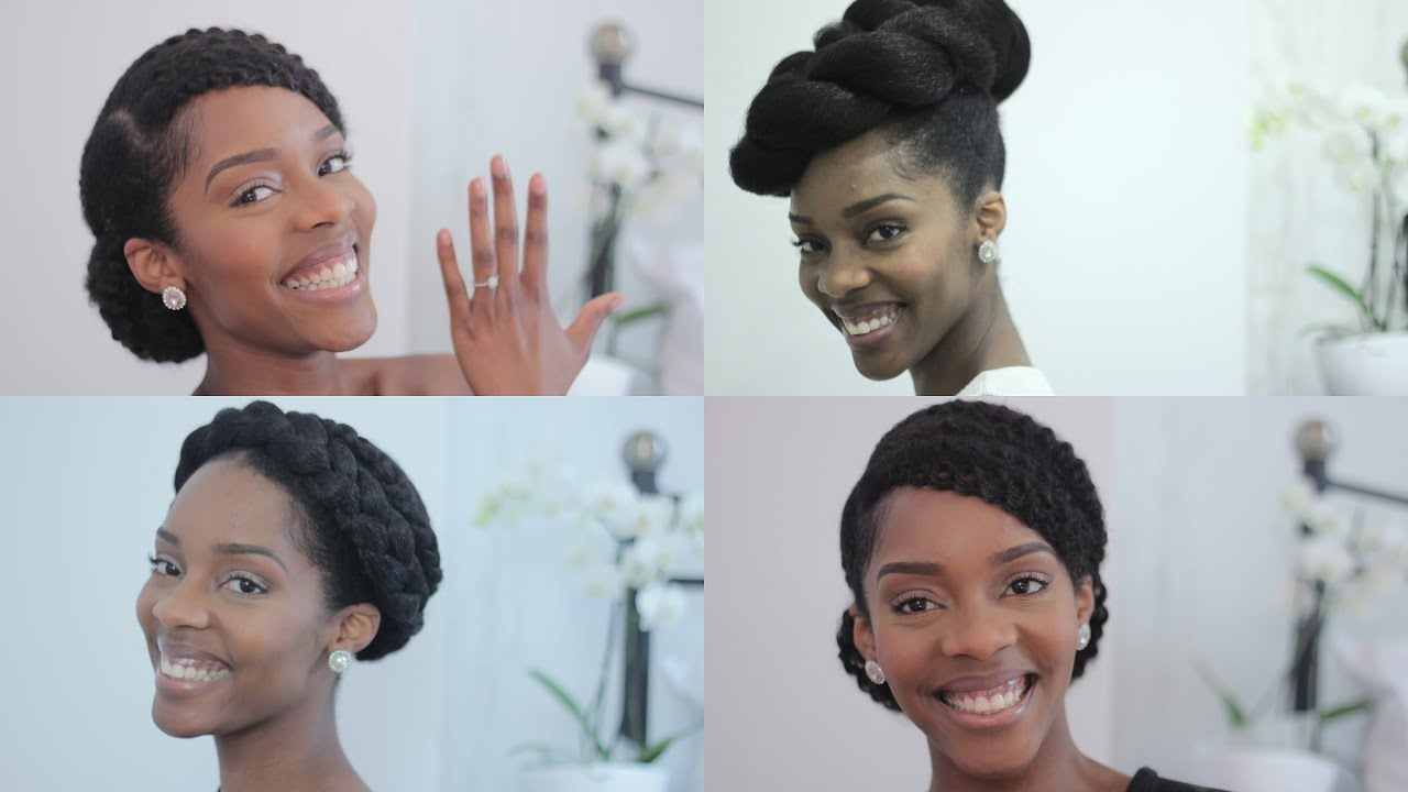 Natural Bride/Prom Tutorial | 3 Glamorous Styles For Your Special Day On Natural Hair - YouTube