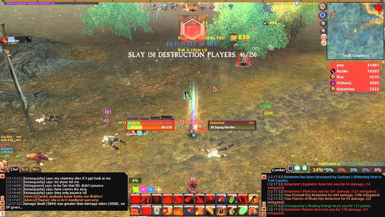 Ror bw burn vol i youtube for Warhammer online ror artisanat
