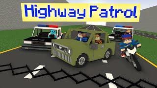 Highway Patrol (Minecraft Police Chase Animation) | Dye MC