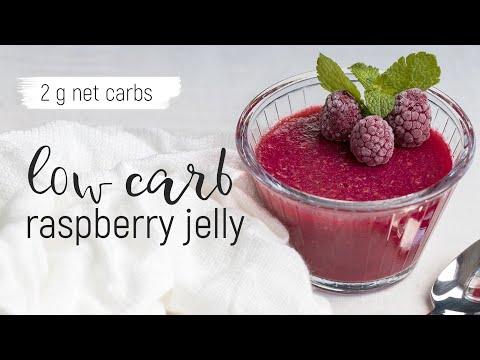 KETO RASPBERRY JELLY | Low-carb Dessert | 2 G Net Carbs Per Serving | Easy Keto Recipes