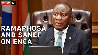 President Cyril Ramaphosa had a Q&A with SANEF and journalists on Friday. SANEF chair Sbu Ngalwa addressed the ENCA mask incident and Ramaphosa expressed his views.  #ENCA #Ramaphosa #Sanef