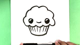 a muffin drawing lesson