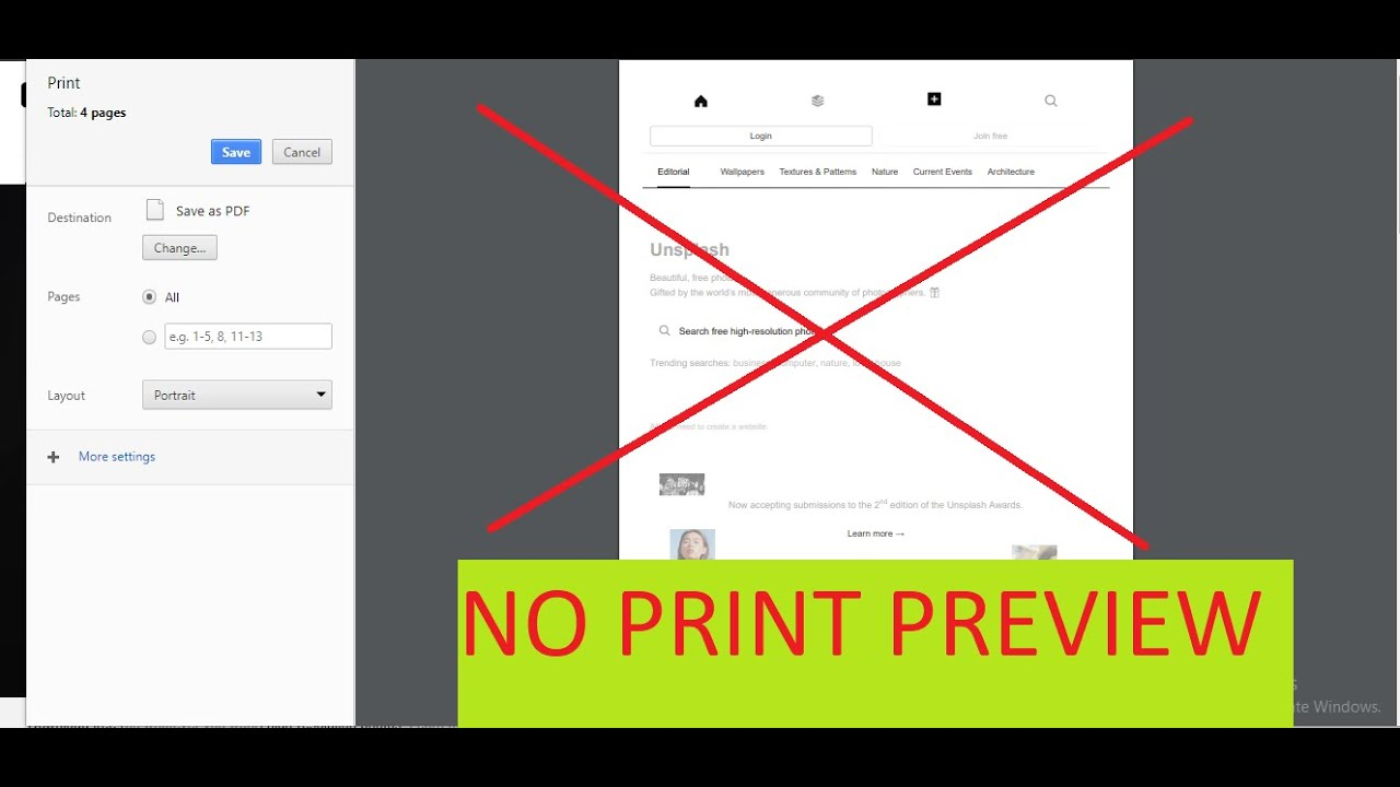 Print without preview in chrome 2019
