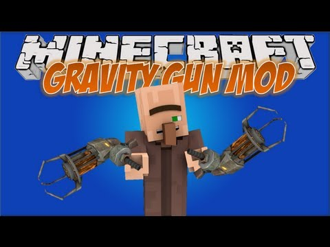 Minecraft Mods: Gravity Gun 1.4.5 - FLY CREEPER, FLY!