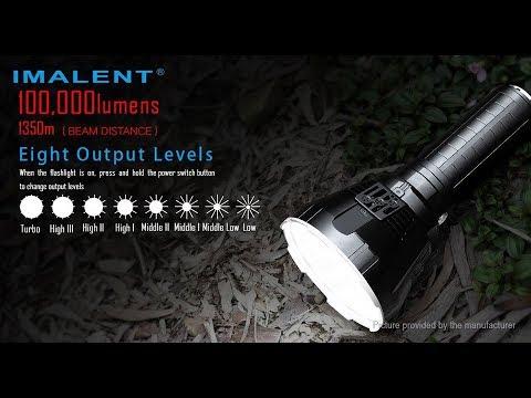 اقوى كشاف يدوي بـ العالم بلا منازع 100.000 شمعة IMALENT MS18