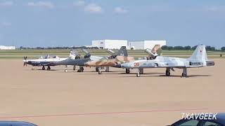 "Five VMFT-401 ""Snipers"" F-5N Tiger ll visit AFW!!!"