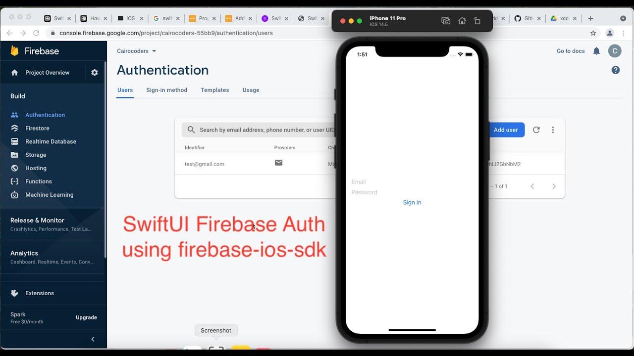 SwiftUI Firebase Auth using firebase-ios-sdk