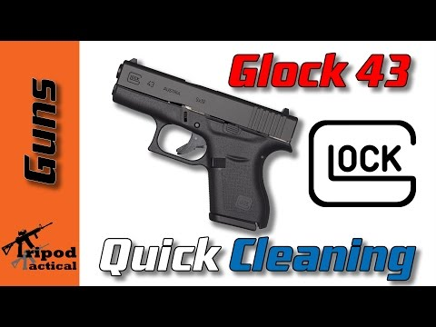 How to do a quick cleaning of your Glock 43 using CLP (Or basically any Glock)