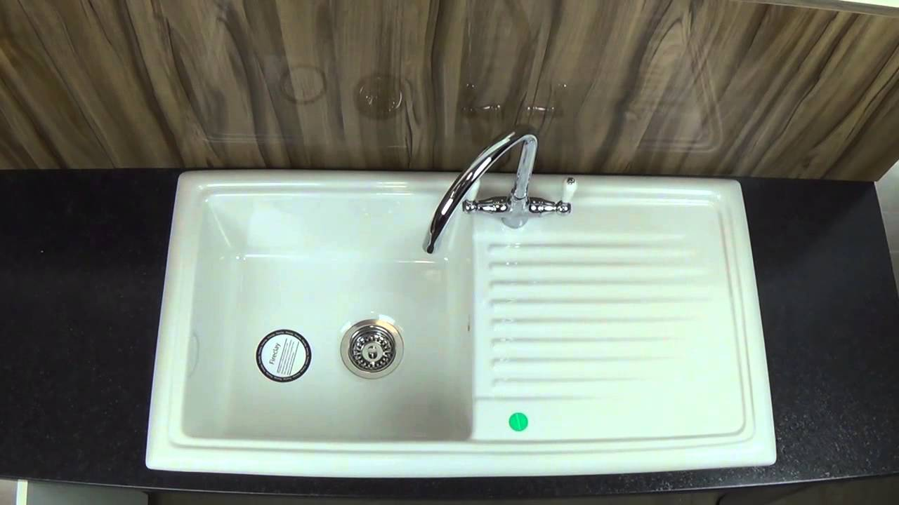 Ceramic Kitchen Sink Designing Cabinets Reginox Rl304cw Youtube