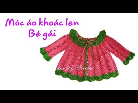 Hướng Dẫn Móc áo Khoác Len Bé Gái - How To Crochet A Coat For Baby