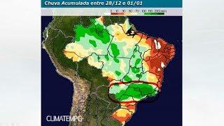 Chuva no Brasil para 15 dias - até 11/01/2018