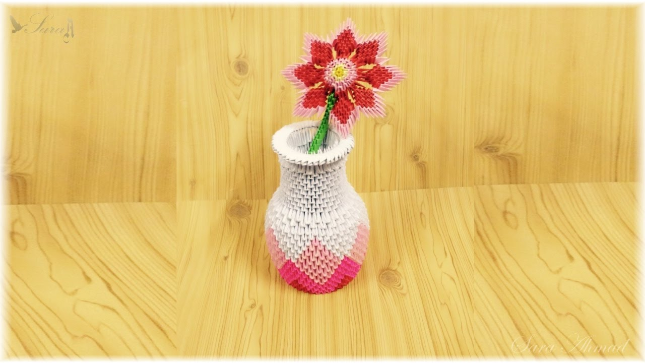 3d origami vase flowers youtube mightylinksfo