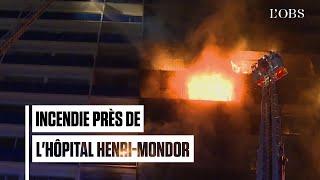 Un mort et des blessés dans l'incendie d'un immeuble jouxtant l'hôpital Henri-Mondor de Créteil