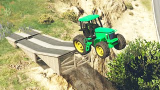 STUNTING WITH TRACTORS! (GTA 5 Funny Moments)
