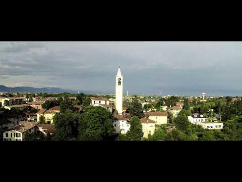 Drone 5k Video: Hydroelectric power plant Taccani, Trezzo sull'Adda, Italy