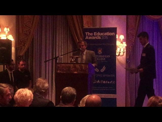 Βραβεία Mediterranean College Education Awards 2015 - Γ. Μαθιός - Κ. Μιχαηλίδης