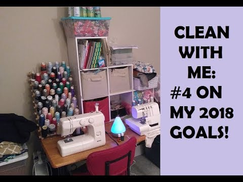 CLEAN WITH ME- Life of a Yarn & Fabric Hoarder