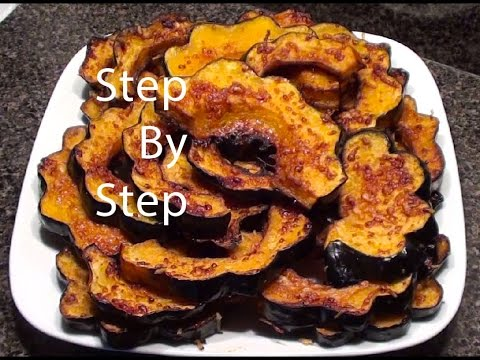 Parmesan Acorn Squash in Oven, How to cook Acorn Squash, What to do with Acorn Squash - YouTube