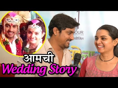 Exclusive Interview: Sangram Salvi & Khushboo Tawde After Tying Knot | Saraswati & Kulswamini Serial