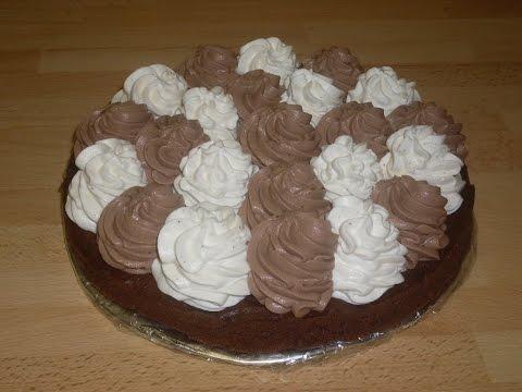 Gâteau au chocolat et crème mascarpone vanille et chocolat