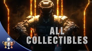 Call of Duty Black Ops 3 - All 56 Collectibles Locations - Curator Trophy (Win free PS4 BO3 game)