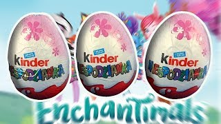 3 Enchantimals Kinder Surprise Eggs Opening from toy company Mattel #201